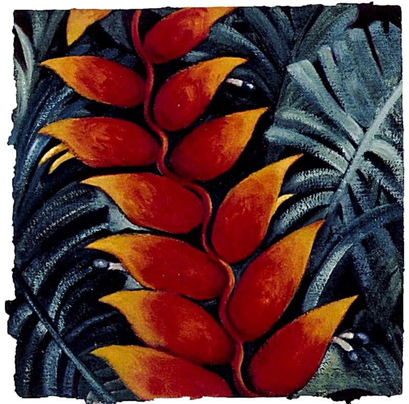 Heliconia III by Jane Abrams